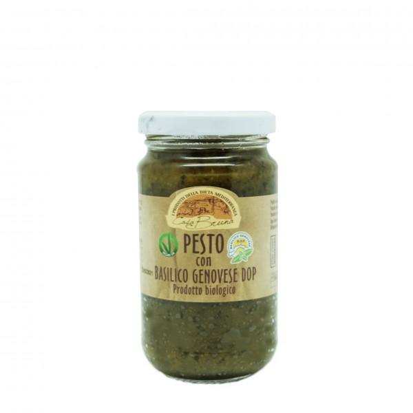 Organic pesto genovese with PDO basil - 180 gr.