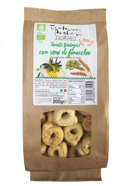 Taralli BIO with fennel seeds - 200 gr