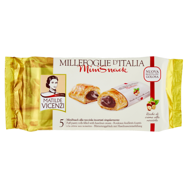 Hazelnut-cream millefoglie snacks - 5 x 125 gr. pack