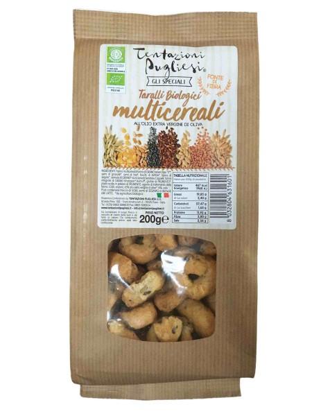 Organic multi-grain taralli - 200 gr.