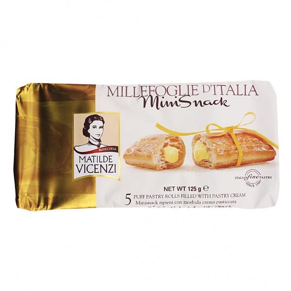Custard millefoglie snacks - 5 x 125 gr. pack