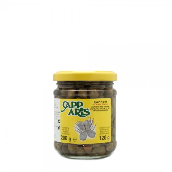 Capers in wine vinegar - 200 gr.