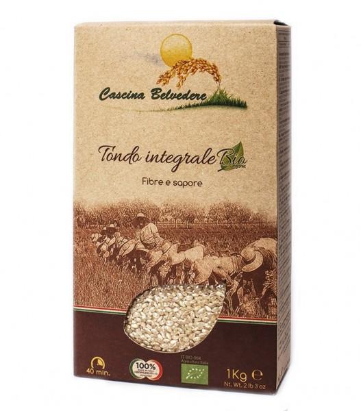 """Organic """"tondo originario"""" brown rice - 1 kg."""