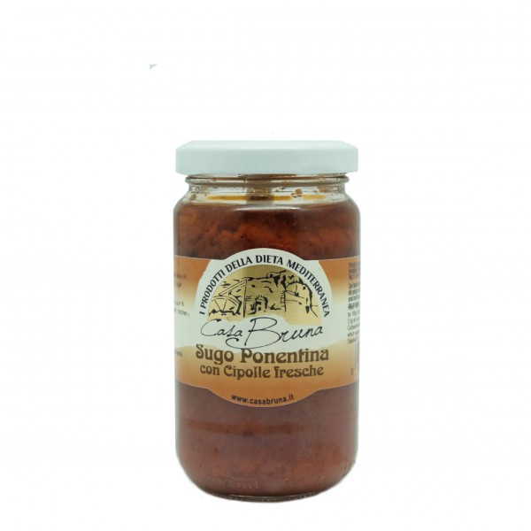 Ponentina sauce with fresh onions - 180 gr.