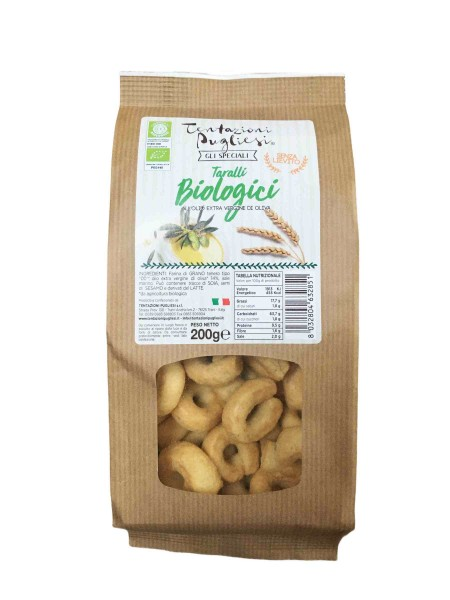 Taralli BIO with extra virgin olive oil - 200 gr