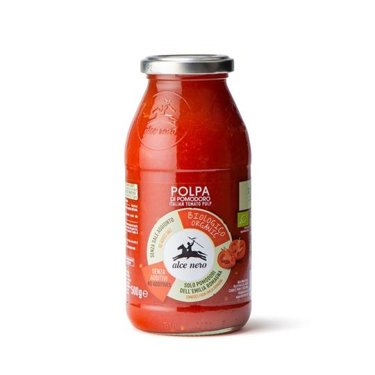 Organic finely chopped tomatoes - 500 gr.