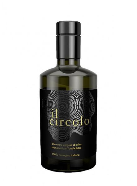 """Organic extra virgin olive oil """"Il Circolo"""" of Sicily - 0,5 lt."""