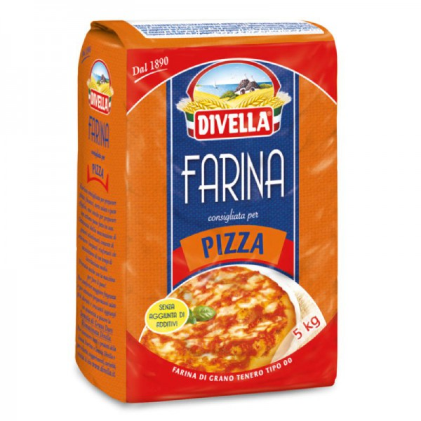"""Type """"00"""" soft wheat flour for pizza - 5 kg."""