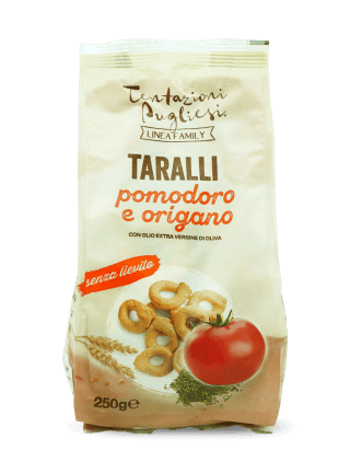 Taralli with tomato and origano - 250 gr.