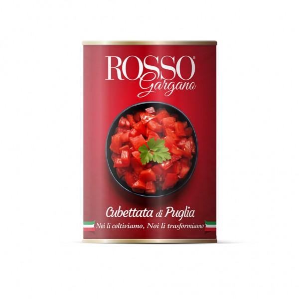 Cubettata di Puglia, roughly chopped tomatoes - 400 gr.