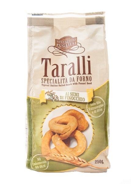Taralli with fennel seeds - 250 gr.