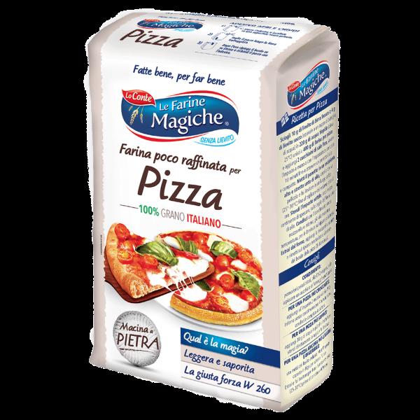 Stone-ground pizza flour, Italian wheat - 1 kg.