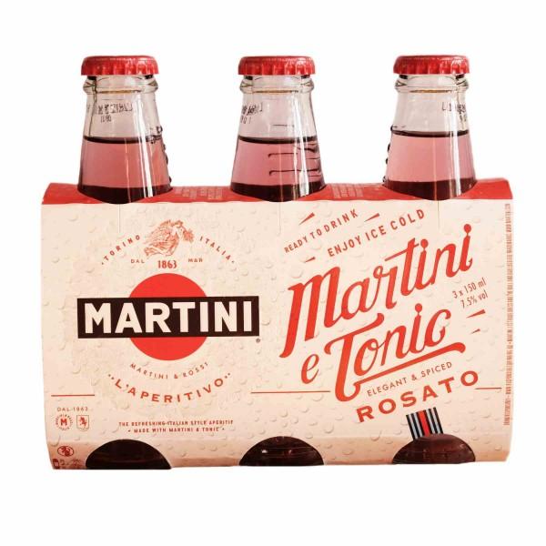 Martini e Tonic Rosato aperitivo 3 x 150 ml