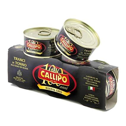 "Yellowfin tuna in olive oil ""riserva oro"" - 3 x 80 gr. pack"