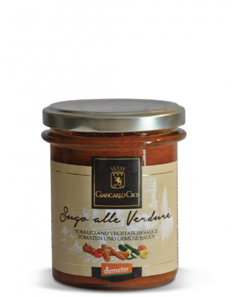 Organic tomato sauce with vegetables - 180 gr.