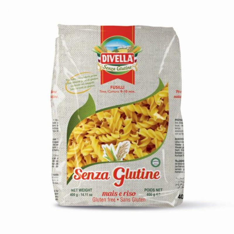 Fusilli gluten-free mais e riso - 400 gr.