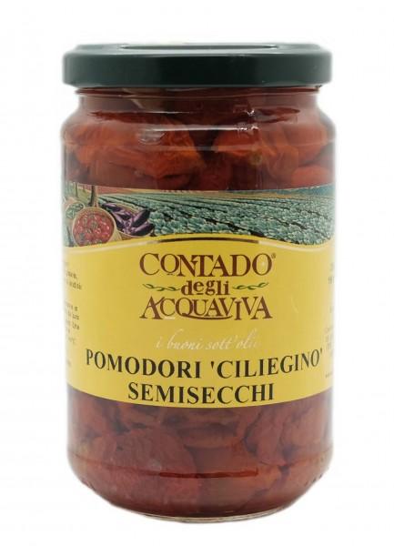 Semi-dried cherry tomatoes in oil - 280 ml.
