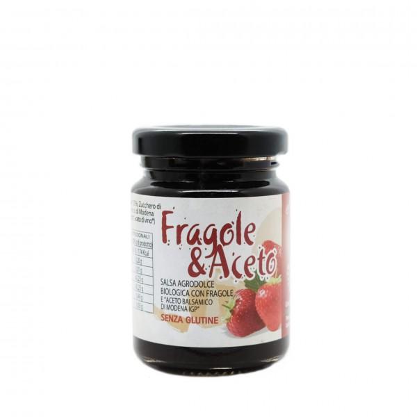 Salsa agrodolce BIO Fragole e Aceto Balsamico IGP