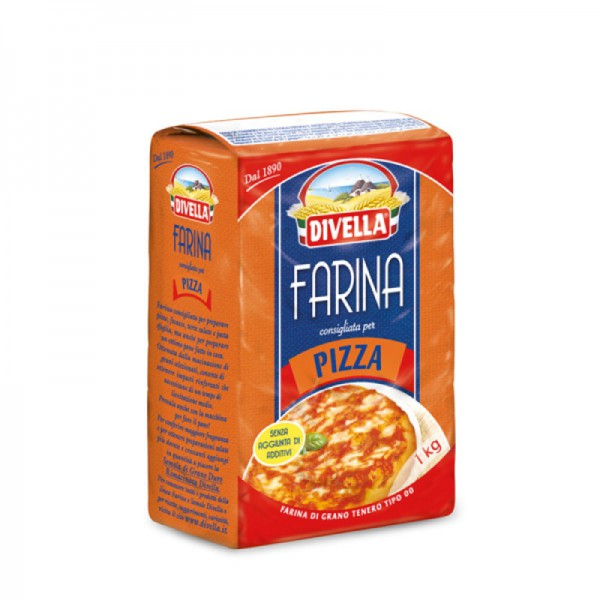 """Soft wheat flour type """"00"""" for pizza - 1 kg."""