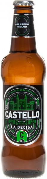 """Premium lager Castello """"La Decisa"""" - 33 cl. x 6 btls"""