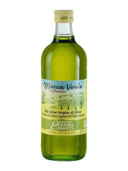 """Filtered extra virgin olive oil """"Marca Verde"""" - 1 lt."""